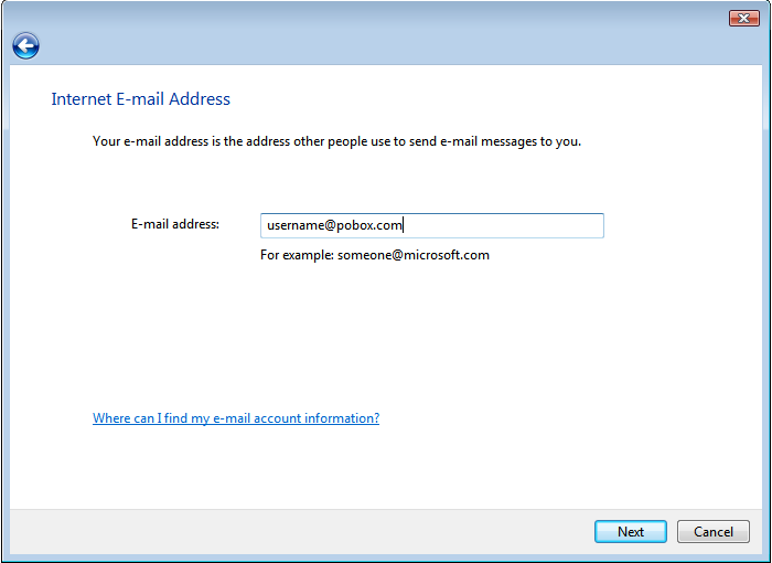 Internet Email Address