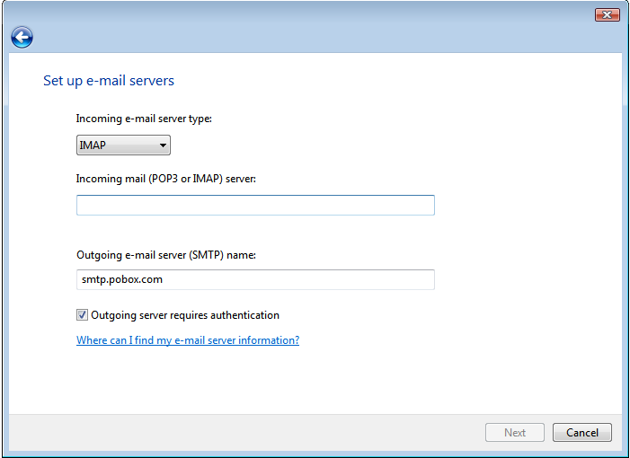 Set up e-mail servers